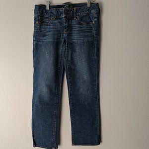 American Eagle Artist Crop Jeans Blue Size 4